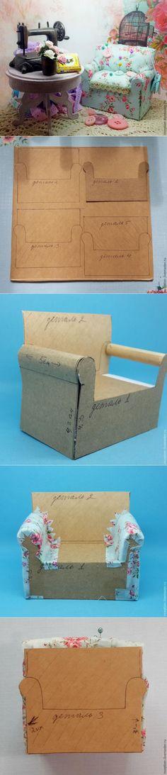 Создаем милый диванчик-игольницу - Ярмарка Мастеров - ручная работа, handmade