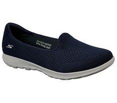 3b801645c629 Skechers Women s GOwalk Lite Shanti Slip On Sneakers (Navy Gray Navy)