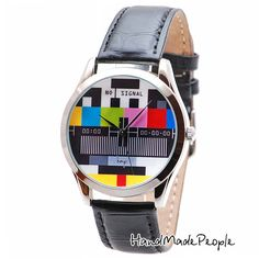 Unique Wrist Watch Design with No Signal Screen Dial. Watch Case Plating Color: Silver Type: Mens Watches, Womens Watches Watch face Diameter: 3,8