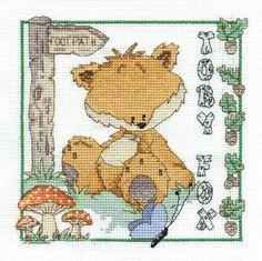 Toby Fox Woodland Folk Cross Stitch Kit by DMC