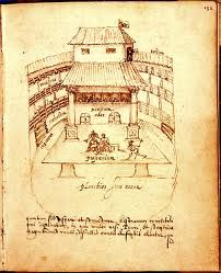 the theatre had an upper stage called the apron that allowed the