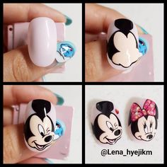 33 Ideas for fails design cute mickey mouse Nail Art Hacks, Nail Art Diy, Nail Noel, Cartoon Nail Designs, Nail Art Dessin, Sculpted Gel Nails, Mickey Mouse Nails, Nail Drawing, Animal Nail Art