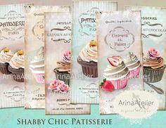 BOOKMARKS Shabby Chic Patisserie  Digital by arinaatelierDigital, $5.20