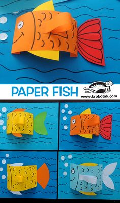 FISHPAPER FISH A yarn and paper plate ocean craft for kids to make this summer. An interactive sea craft for preschoolers and older kids with ocean animals: seahorse, star fish, fish and whale. Printable template available. Paper Crafts For Kids, Diy For Kids, Paper Crafting, Fish Paper Craft, Sea Crafts, Fish Crafts, Art N Craft, Animal Crafts, Summer Crafts