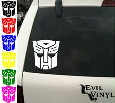 Transformers Autobot Vinyl Car Window Decal by EvilVinyl on Etsy, $2.50