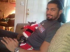 Roman Reigns (we're married but he doesn't know quite yet) :))Roman Reigns :) were married and have 2 kids he just doesn't know yet :)