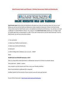 Warfriends Generator Hack Online