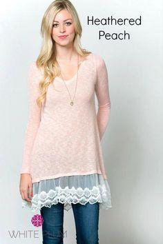 b234cc634e0 Alexandra Lace Sweater Tunics! Plus Sizing Available!