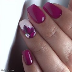 The best flower nail art designs - 100 images - # check more at nag . - The best flower nail art designs – 100 images – # Check more at nageldesing. Fancy Nails, Diy Nails, Cute Nails, Pretty Nails, Shellac Nails, Acrylic Nails, Nail Nail, Nail Polishes, Stiletto Nails