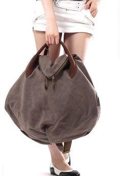 deux façons marron toile besace, pochette, cuir, sacoches de messager, sac en toile, sac toile étudiant, Packs Loisirs
