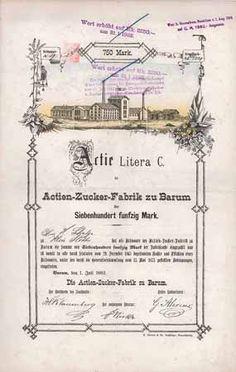 Actien-Zucker-Fabrik zu Barum / Actie Lit. C 250 Thaler 1.7.1882 (R 11).
