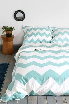 This can match the Santa Maria and the FLOR striped rug. In your fav color. . .Zigzag Duvet Cover
