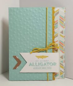 Stampin; Up Sale-A-Bration 2014 papermadeprettier Launch Party!!! Project #1 See Ya Later card - PRIZES every day until 1/28 from papermadeprettier (Kay Cogbill)