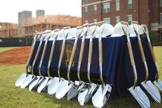 A photo from 2008 of a ground breaking ceremony that took place at The Fort Valley State University. Two new Commons Buildings were under construction at the time.