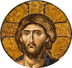 A mosaic of Jesus from the Hagia Sophia