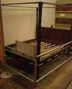 16th Century Tudor Rope Bed In The Saffron Walden Museum Tudor