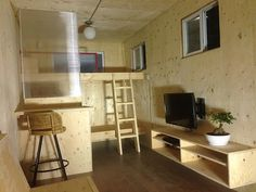 Shipping Container Is Converted Into A Comfy Bunkie