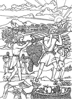 israelites and the promised land coloring pages | 12 spies coloring sheet | ... moses to pick leaders from ...