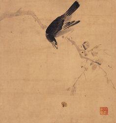 (Korea) by Jang Seung-eop aka Owon. ca century CE. colors on paper. Korean Art, Asian Art, Korean Traditional, Traditional Art, Korean Painting, Illustration Art, Illustrations, Traditional Paintings, Ink Painting