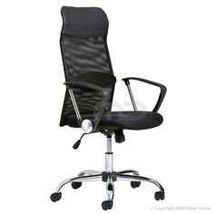 High Back Mesh Ergonomic Office Chair in Black - 187661 For Sale, Buy from Office Chairs collection at MyDeal for best discounts. Cool Office Desk, Black Office Chair, Mesh Office Chair, Office Chairs, Blue Dining Room Chairs, Leather Dining Room Chairs, Best Ergonomic Office Chair, Ashley Furniture Chairs, Chairs For Sale