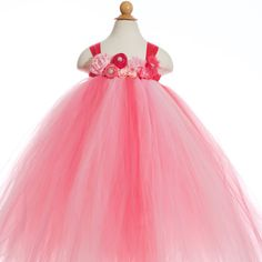 Pink+Flower+Girl+Dress+Ombre+Tutu+Dress+Pink+Tutu+by+MerLovDesign Totes adorbs! Pink dress for weddings, birthdays, special occasion! What a princess would wear