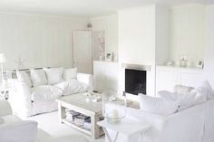 There are several tips to design the white living room. The living room is perfect if it is given with white living room furniture. Small Living Rooms, Small Living Room Decor, Living Room Ideas Uk, Bohemian Living Rooms, Living Room Color, Stylish Living Room, Sofas For Small Spaces, White Rooms, White Furniture Living Room