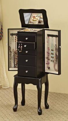 Dark Chocolate Queen Anne Jewelry Armoire by Coaster  http://www.cccstores.com/chocolate-jewelry-armoire-coaster-900139.html