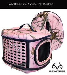 Realtree Pink Camo Puppy Basket Carrier - Coming Soon!