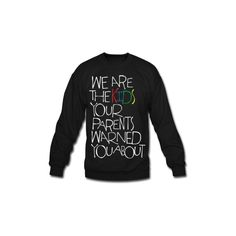 Mac Miller Kids Long Sleeve Shirts Men's Crewneck Sweatshirt Designed... ($28) ❤ liked on Polyvore