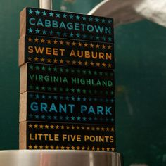hoods on wood -- atl ($18.00). im getting: little five points, candler park, old fourth ward, midtown  highland --all the places where i eat, breathe and party