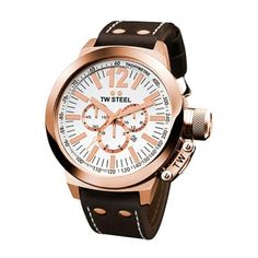 TW Steel Mens Rose Gold Tone Stainless Steel Watch