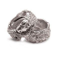 Crocodile Silver Ring