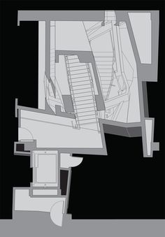 Image 17 of 19 from gallery of Cahill Center for Astronomy and Astrophysics / Morphosis Architects. Architecture Drawings, Architecture Plan, Morphosis Architects, Deconstructivism, Model Sketch, Graduation Project, Abstract Drawings, Astrophysics, Designs To Draw