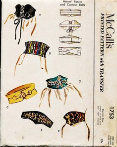 McCall's 1753 Belts 1950s FloradoraPresents 13+
