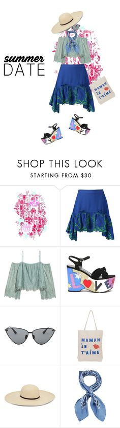 """""""Dramatic Effect"""" by peeweevaaz ❤ liked on Polyvore featuring Roberto Cavalli, H&M, Yves Saint Laurent, Le Specs Luxe, Manipuri, outfit, polyvoreeditorial, polyvorefashion and summerdatenight"""