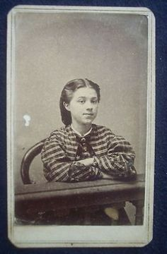 Civil War CDV 1860s Photograph Tax Stamps Daughter of Isaac Daggett So Weymouth | eBay