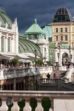 Hofburg, Vienna---former imperial palace in the center of Vienna.  To me, Vienna is a formal and elegant city with lots of culture....slj