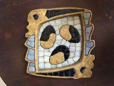 Salvador Teran Mexicano Azulejo Cenicero Vintage mediados siglo moderno Taxco Mexico era