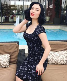 """552 Likes, 15 Comments - MissCurstieMarie (@missvintagelady) on Instagram: """"Feeling Quite Glamorous in my @stopstaringclothing dress! ✨  Wearing Victory Red Lipstick  from…"""""""