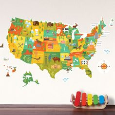 Wall Decal USA