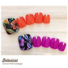 Pretty Toe Nails, Cute Toe Nails, Pretty Pedicures, Cute Pedicure Designs, Toe Nail Designs, Feet Nail Design, Summer Toe Nails, Plain Nails, Nail Candy