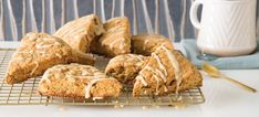 Candied Ginger & Pecan Scones with Maple Glaze