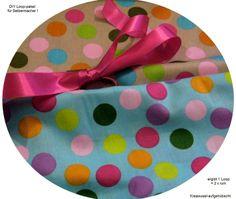 Stoffpaket♥Loop♥ DIY gr. Dots bunt + Schleife von ஐღKreawusel-aufgehübscht✂ஐ  auf DaWanda.com