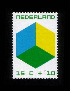 1970 | W. Graatsma | blauw, geel, groen | kubus