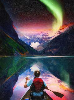 Aurora Borealis over Banff National Park