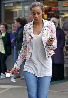 street style. emphasis on the floral jacket!