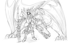 League of Legend Jarvan IV and Shyvana by Mengzhen