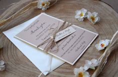 Wedding Rustic Thank You Cards Wedding Wedding by PaperStudioByC