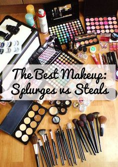 This blog website has a couple of links offering discounts to ELF and Sephora and discusses which products you should splurge on and when you should choose the bargain beauty versions.