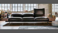 Altopiano by Vibieffe. Adjustable headrest sofa. Available at Catalog Ltd, Edinburgh. www.cataloginteriors.com